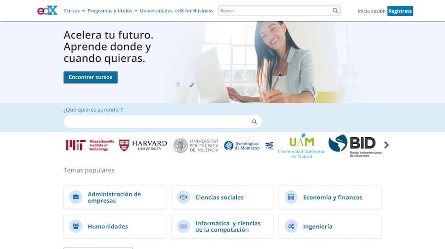 EdX web